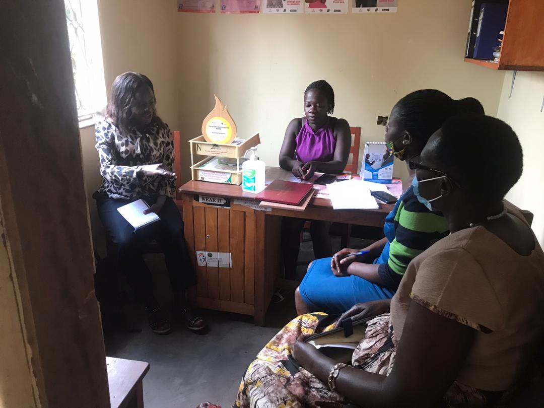 Meeting with HIV/Aids woman rights defender-Robina from Hoima