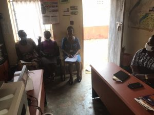 WHRDNU meeting with woman Environmental defender Beatrice in Hoima district.