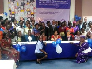 Photo moment with all partners and Women Human Rights Defenders