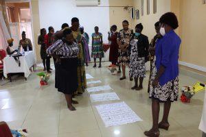 Women HRDs read Self Healing and Wellness messages