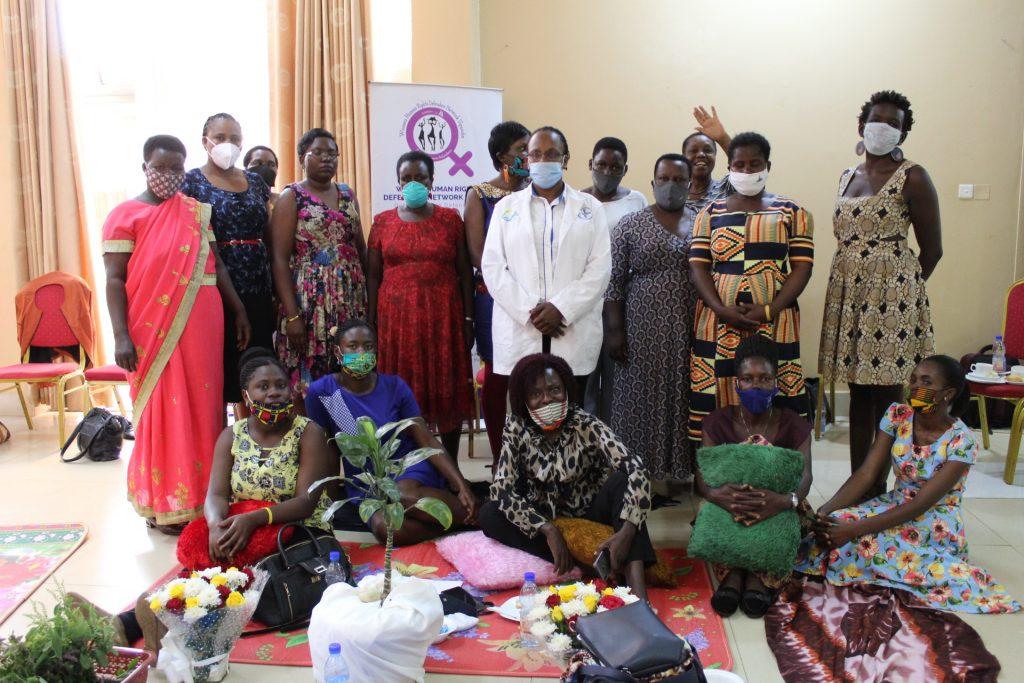 Group photo of Women HRDs with Dr Linda Birungi