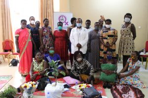 Group photo of Women HRDs with Dr Lind Birungi