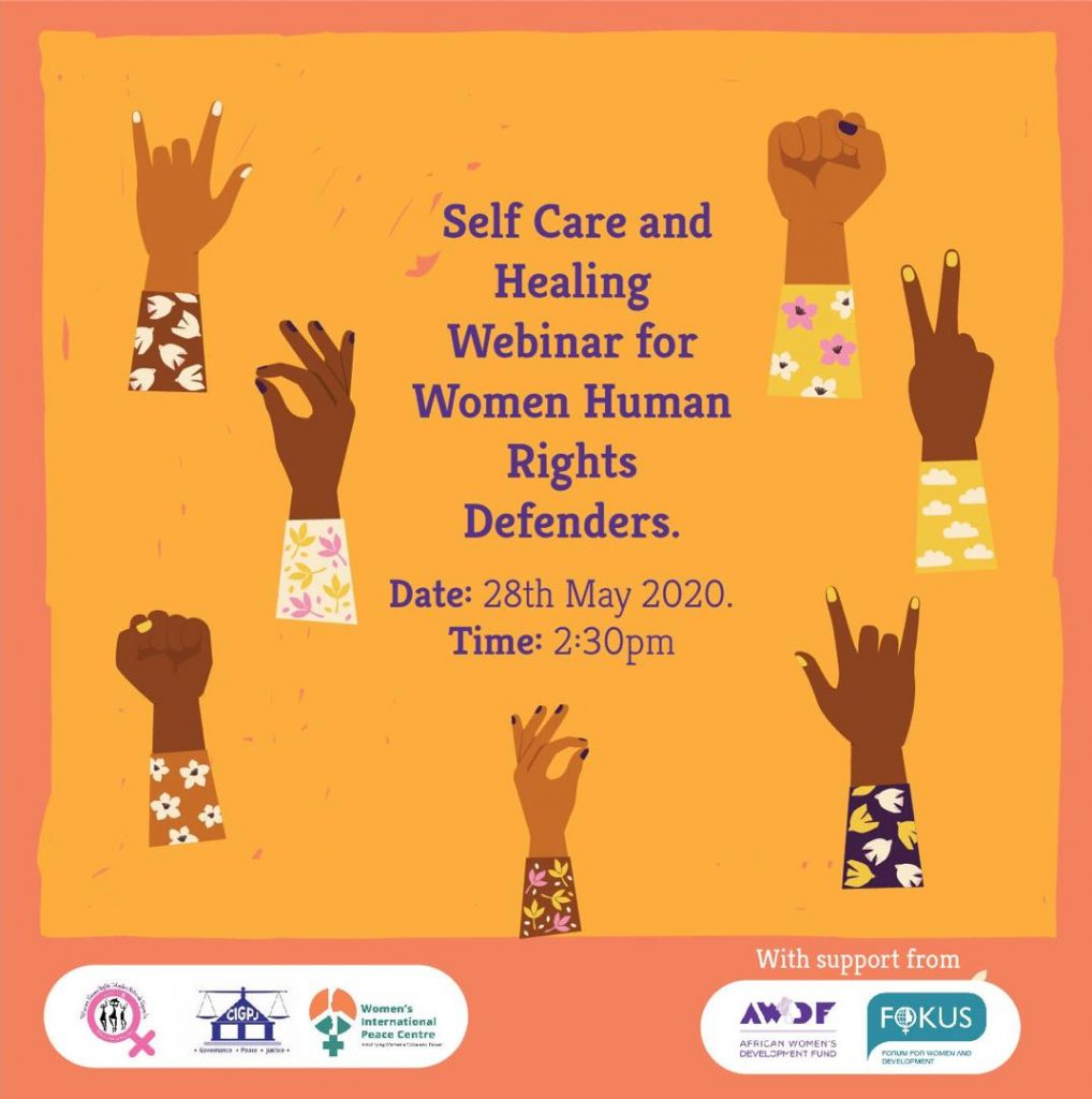 Self Care and Healing webinar For Women Human Rights Defenders