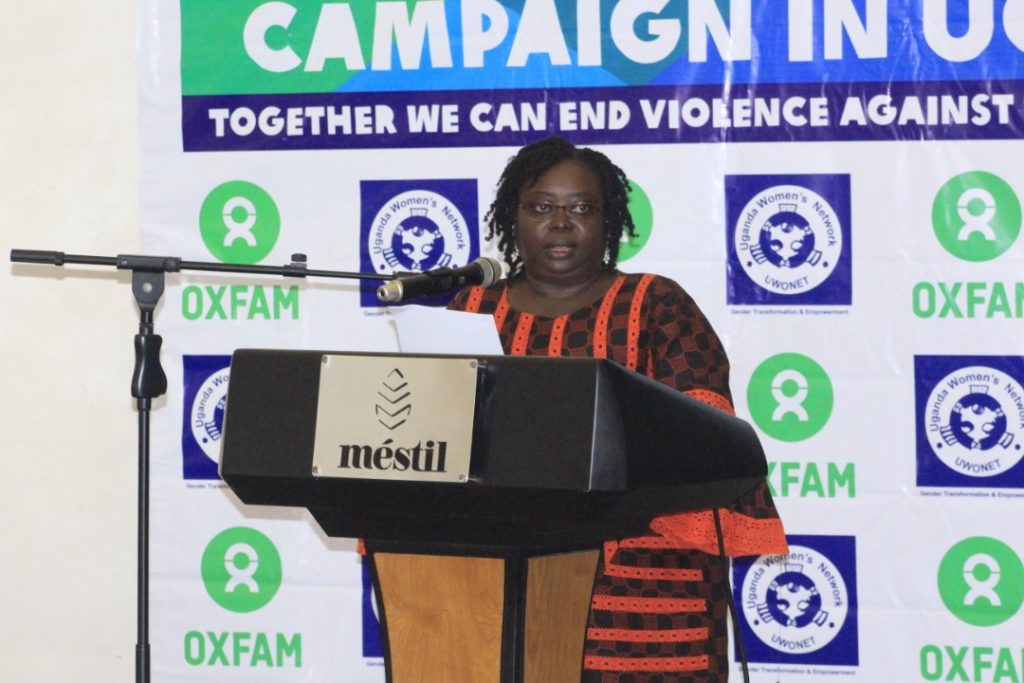 Rose Aciro speaks at the launch of the Enough Campaign