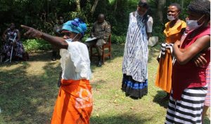 Grace Mbhatina the Mutwa activist raised challenges of restrictions on access to the Matong/Semiliki forest